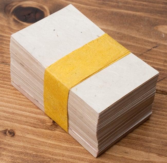 ロクタ紙 手漉き 無地 ブランク名刺 50枚セットの写真