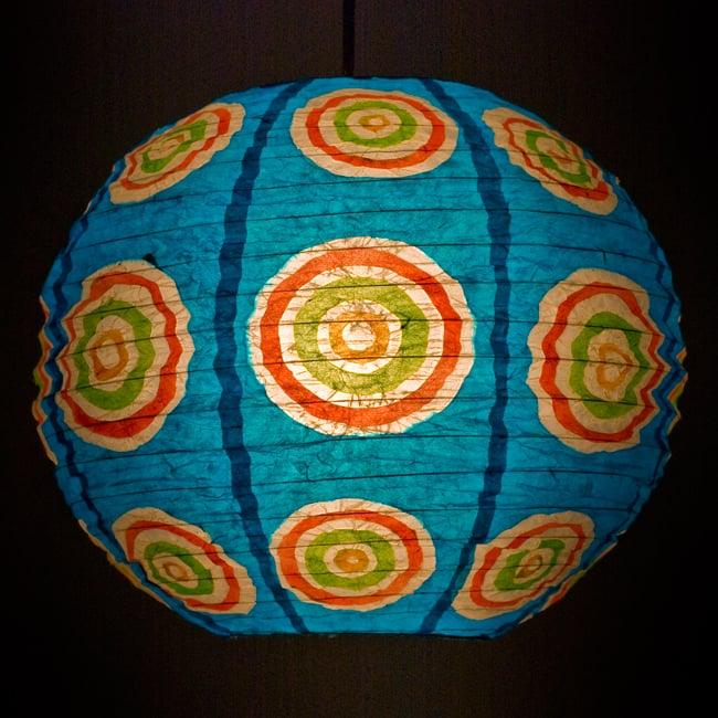 ロクタ紙ランプシェード − 円盤型 − 小(水色)の写真