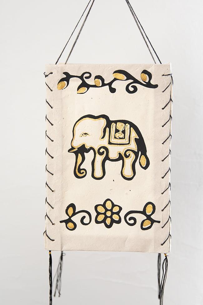 ロクタ紙ランプシェード【象】(4面タイプ) 5 - 正面から見てみました。