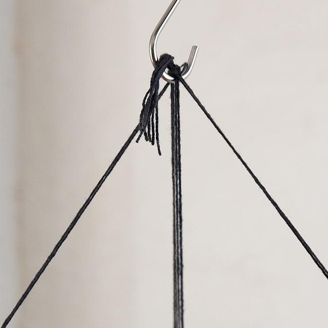 ロクタ紙ランプシェード【象】(4面タイプ) 6 - フックなどに掛けてお使いください。