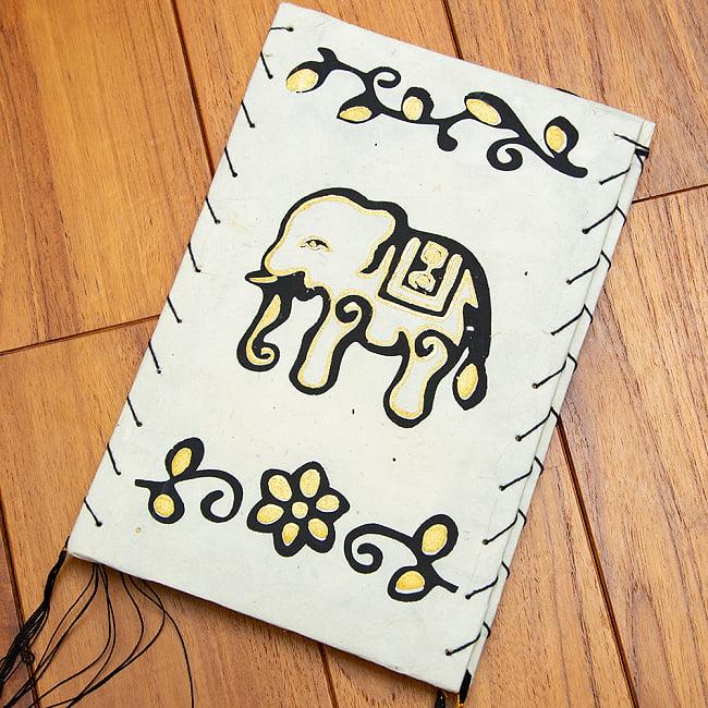 ロクタ紙ランプシェード【象】(4面タイプ) 8 - 白