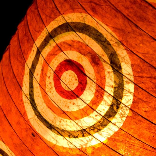 [ワケアリ・付属品不足]ロクタ紙ランプシェード(床置きタイプ)-オレンジ・丸の写真2 - 拡大写真です。