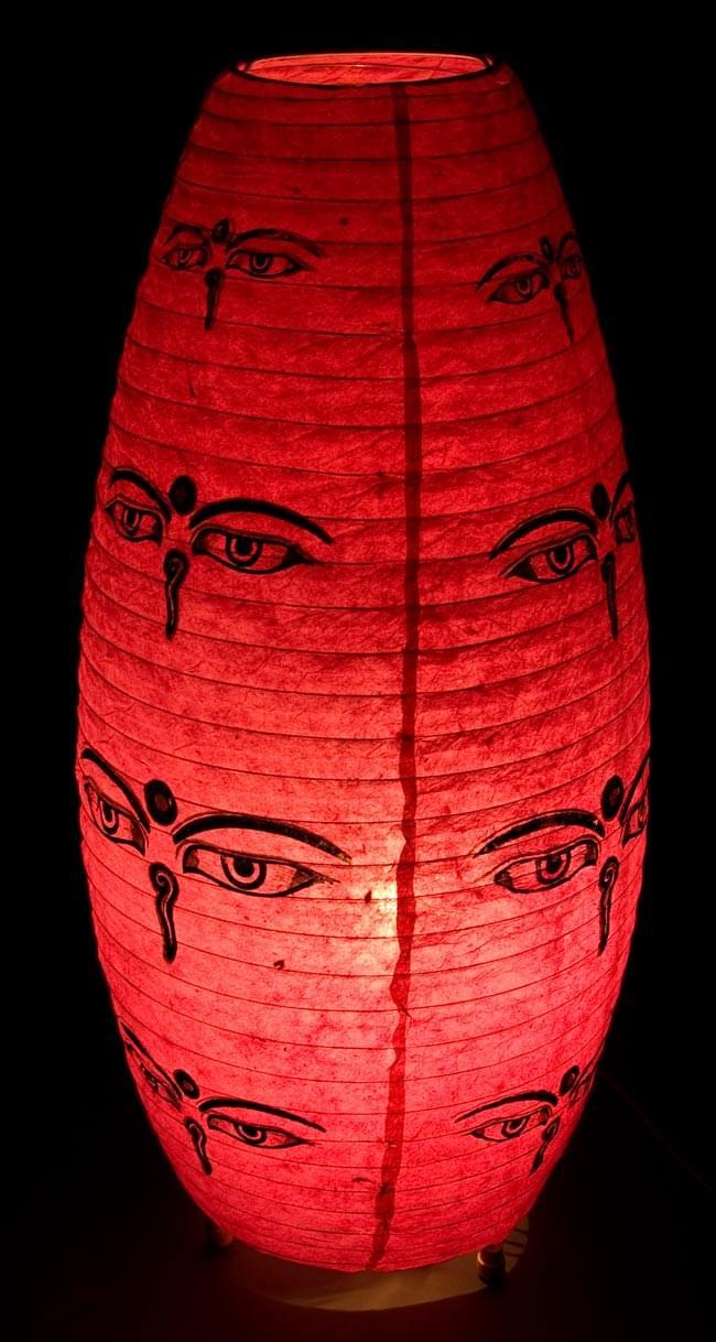 [ワケアリ・付属品不足]ロクタ紙ランプシェード(床置きタイプ)-ピンク・ブッダアイの写真