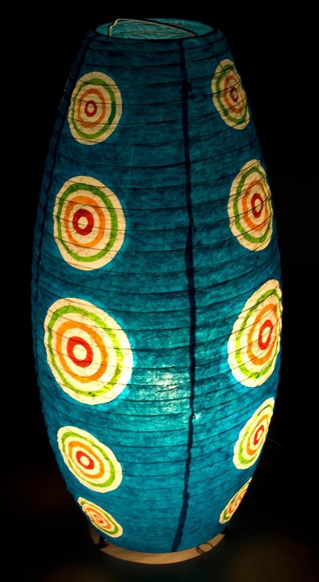 [ワケアリ・付属品不足]ロクタ紙ランプシェード(床置きタイプ)-水・丸の写真