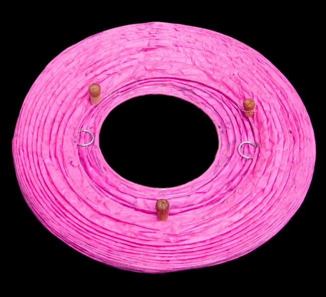 [ワケアリ・付属品不足]ロクタ紙ランプシェード(床置きタイプ)-ピンク・花の写真4 - 折り畳んだ状態です。