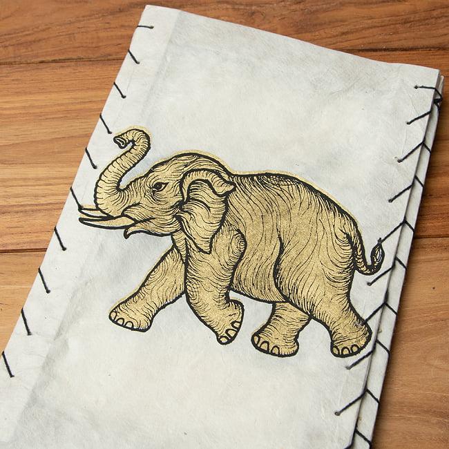 ロクタ紙 -四面ランプシェード 象 7 - 1:ホワイト