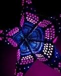 〔インドクオリティ〕星型ランプシェード - 水色×ピンク