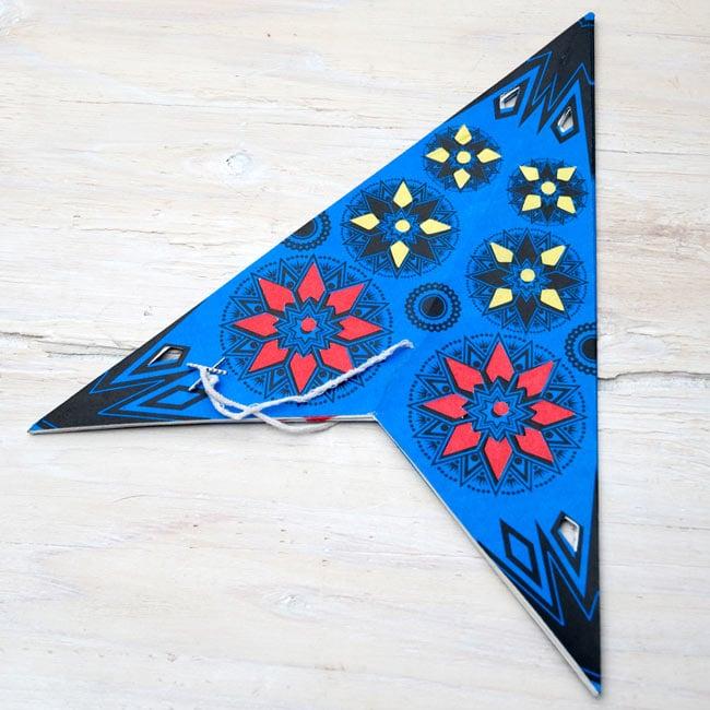 星型ランプシェード〔インドクオリティ〕【アソート】 5 - このように折りたたまれた状態で、お送りいたします。
