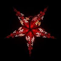 星型ランプシェード〔インドクオリティ〕 - 更紗・パープル