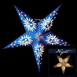 〔3個セット〕自由に選べる星型ランプシェード〔インドクオリティ〕アドベントスターの写真