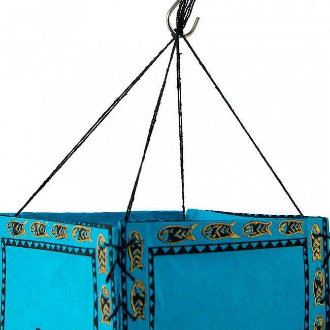 ロクタ紙 四面ランプシェード  - マツヤ 4 - フックなどでかんたんに吊り下げできます。