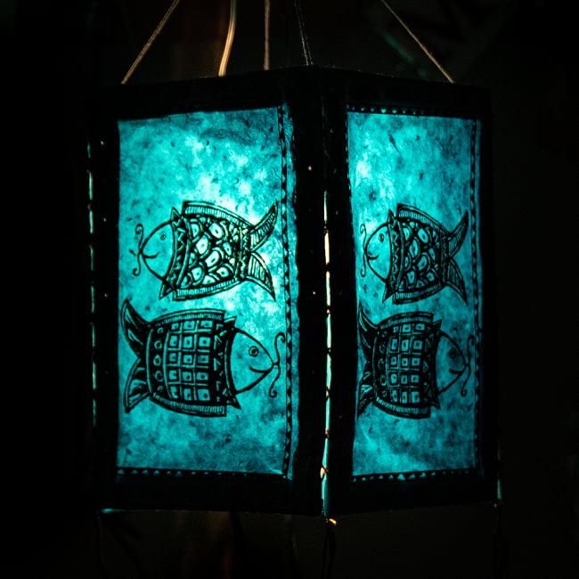 ロクタ紙 四面ランプシェード  - マツヤの写真