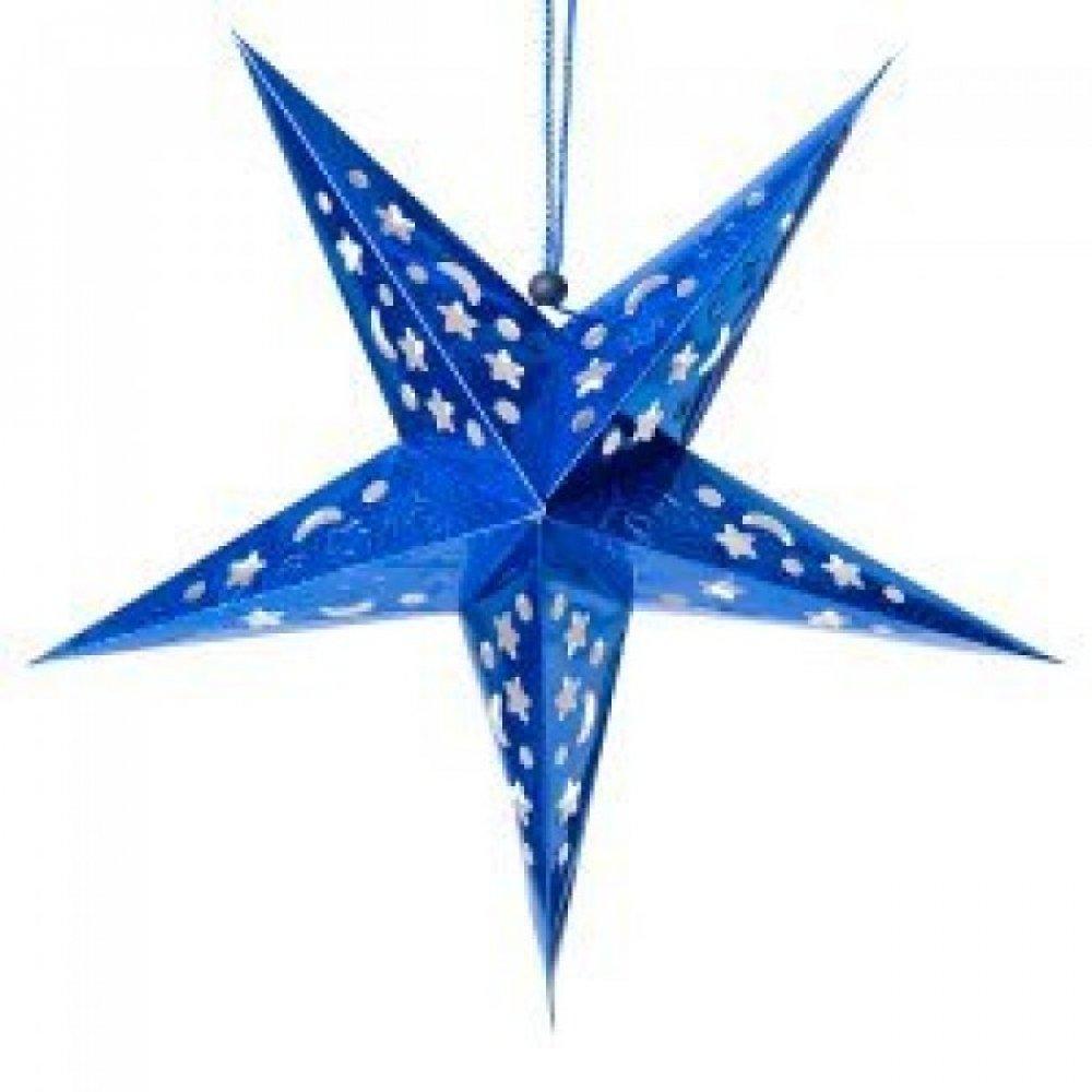 【選べる5個セット】星型ランプデコレーション - 直径:約55cm 5 - 選択4:ブルー