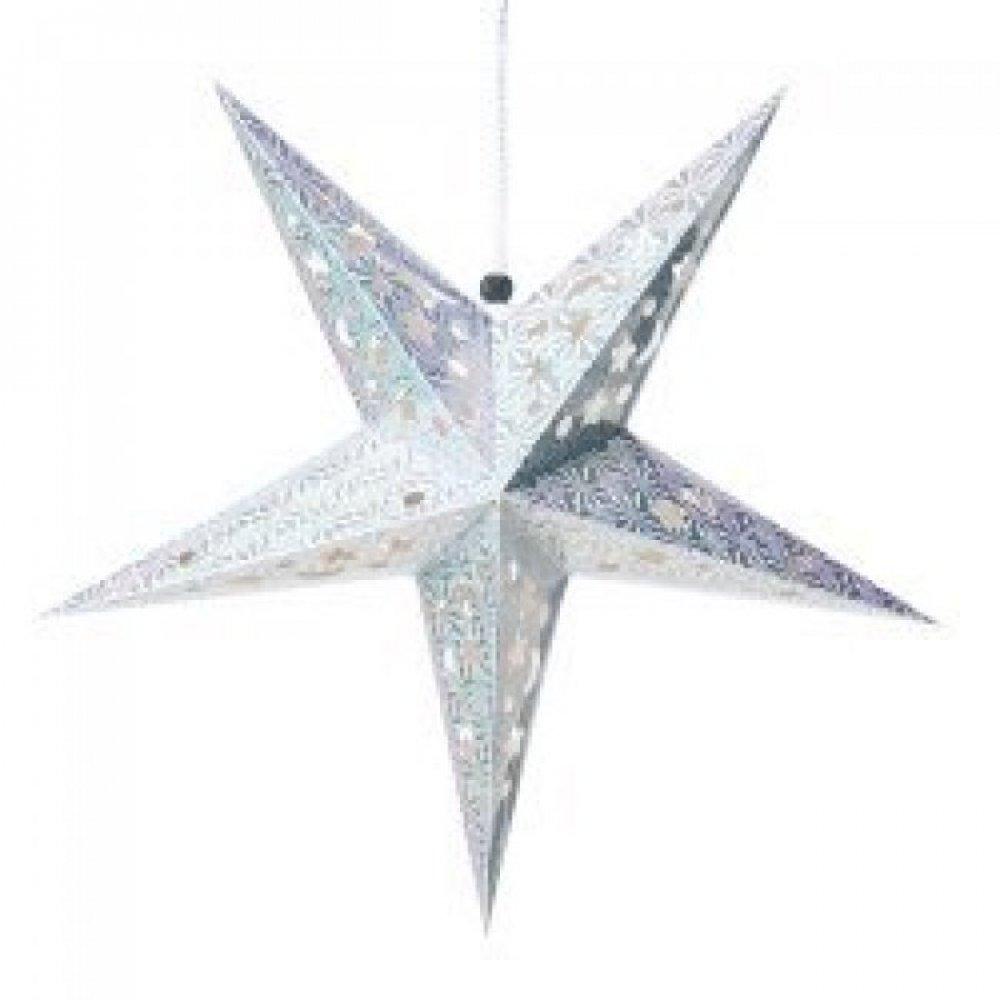 【選べる5個セット】星型ランプデコレーション - 直径:約55cm 6 - 選択5:ホワイト