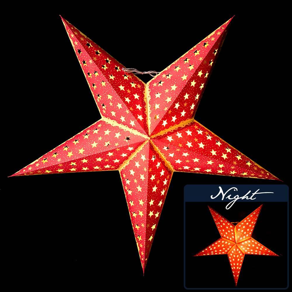 〔3個セット〕自由に選べる星型ランプシェード〔インドクオリティ〕アドベントスター 2 - 商品例になります