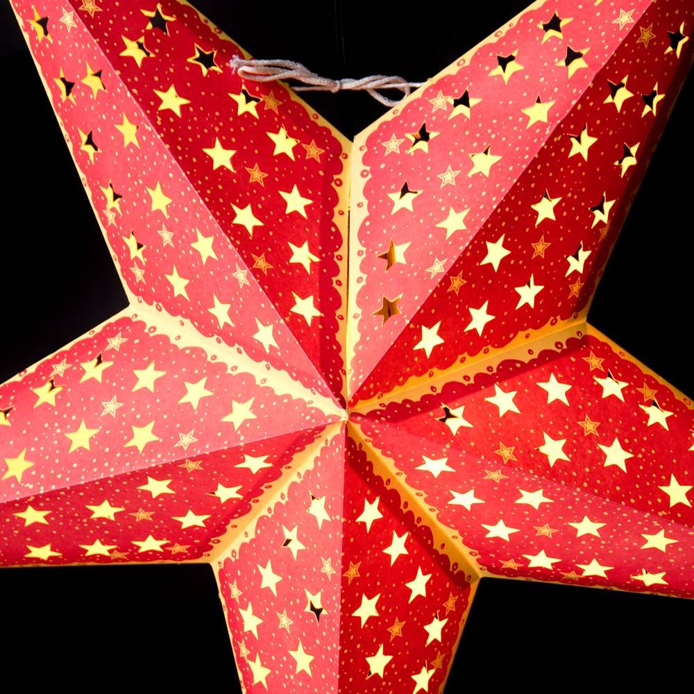 〔3個セット〕自由に選べる星型ランプシェード〔インドクオリティ〕アドベントスター 3 - 拡大写真です