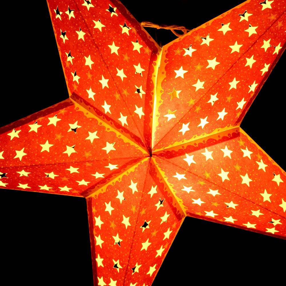 〔3個セット〕自由に選べる星型ランプシェード〔インドクオリティ〕アドベントスター 5 - 拡大写真です