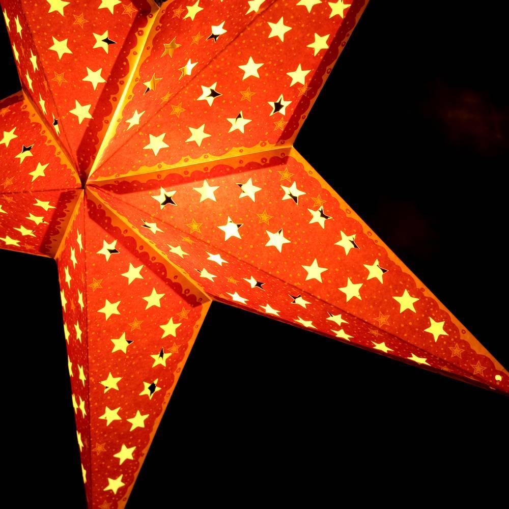 〔3個セット〕自由に選べる星型ランプシェード〔インドクオリティ〕アドベントスター 6 - 別の角度から