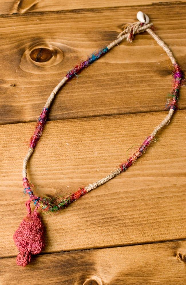 鈴つき きのこネックレスの写真