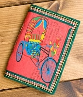 〈12.8cm×8.5cm〉インドの神様柄紙メモ帳 - オールドリキシャ