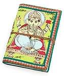 〈12.8cm×8.5cm〉インドの神様柄紙メモ帳 - ゾウ