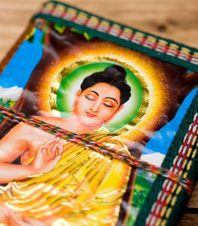 〈12.8cm×8.5cm〉インドの神様柄紙メモ帳 - ブッダ 3 - 拡大写真です