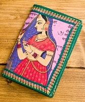 〈12.8cm×8.5cm〉インドの神様柄紙メモ帳 - ムガル女性画