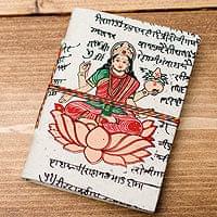 〈10cm×7.5cm〉インドの神様柄紙メモ帳 - ラクシュミの商品写真