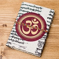 〈10cm×7.5cm〉インドの神様柄紙メモ帳 - オーン