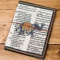 〈19.5cm×14.5cm〉インドの神様柄紙メモ帳 - 象