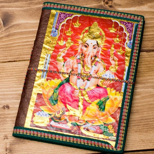 〈19.5cm×14.5cm〉インドの神様柄紙メモ帳 - カラフル 神様の写真7 - 【選択D:ガネーシャ】の写真です