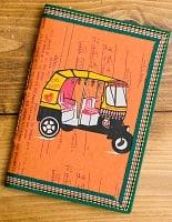 〈18cm×12cm〉インドの神様柄紙メモ帳 - オートリキシャ