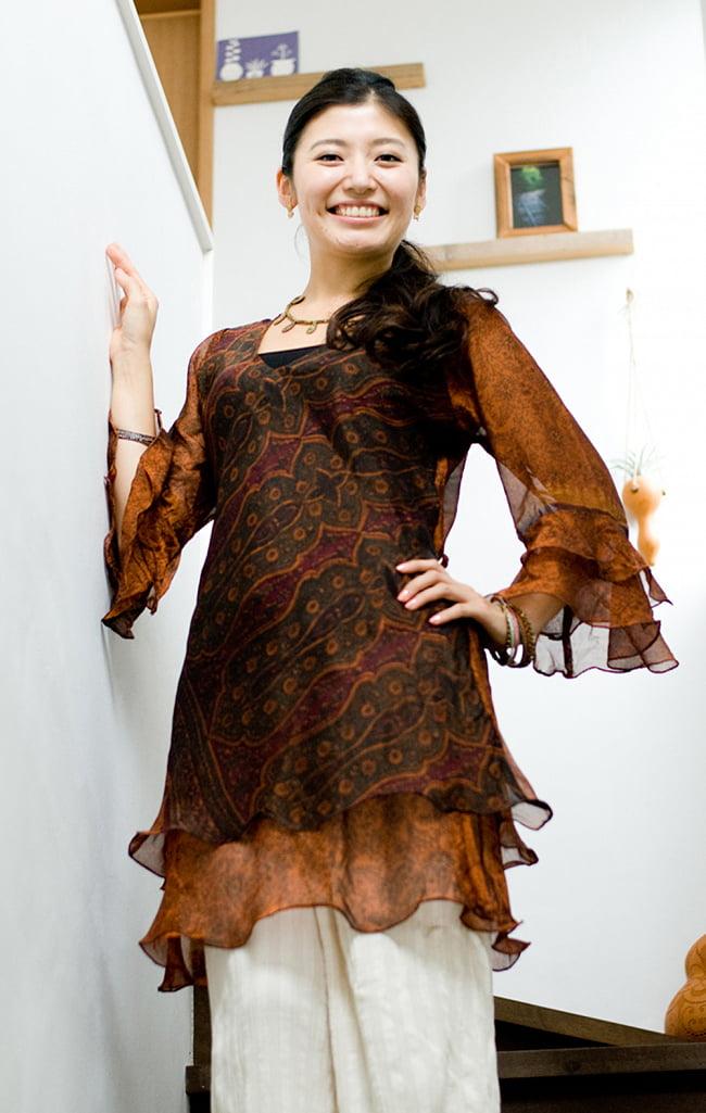ヒラヒラ揺れる裾が可愛い!ベルスリーブワンピース 4 - こちらは一部なので他のお色が届く可能性もございます。普段自分では選ばないような色の新しい発見があるかもしれません!
