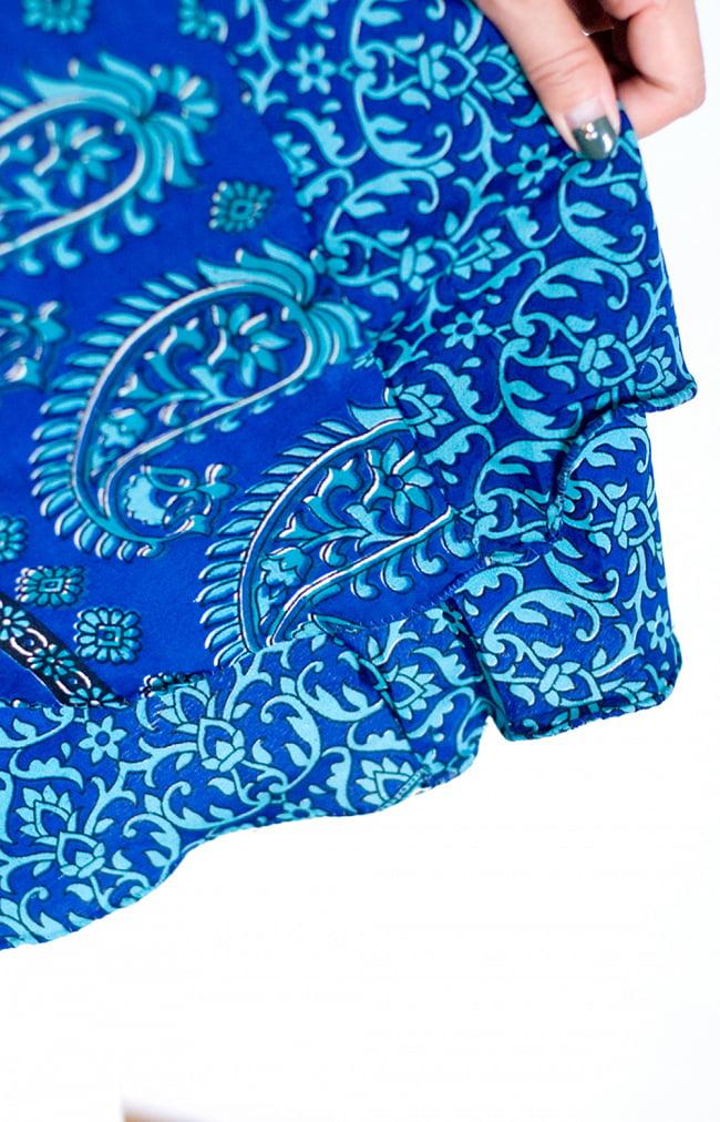 ヒラヒラ揺れる裾が可愛い!ベルスリーブワンピース 8 - 裾もヒラヒラして可愛いですよ。