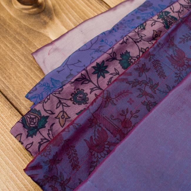 オールドサリーロングカシュクール - 紫・青系 4 - こちらはアソートの一部になりますので、お届け商品はこの写真とは異なる場合もございます。