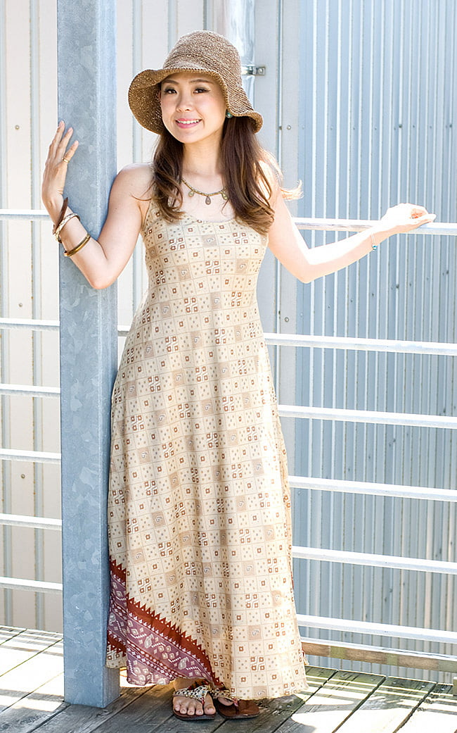 オールドサリーAラインサマードレス 8 - さらりとした質感が蒸し暑い季節も爽やかに着こなせます。