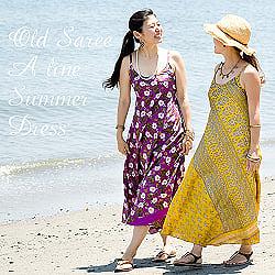 オールドサリーAラインサマードレス