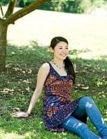 エスニック衣料のセール品:[日替わりセール品]ウッドブロックプリントワンピース 【赤紫】