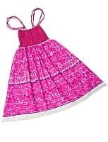 【1点物】カッチ地方のトライバル刺繍 2WAYスカート - 白ピンク