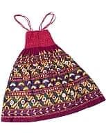 【1点物】カッチ地方のトライバル刺繍 2WAYスカート - えんじ