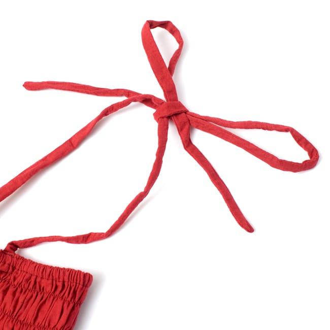 【1点物】カッチ地方のトライバル刺繍 2WAYスカート - ブラック 7 - 肩紐はご自分の体型に合うよう調整して下さい。