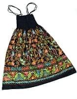 【1点物】カッチ地方のトライバル刺繍 2WAYスカート - ブラックの商品写真