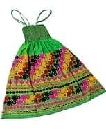 【1点物】カッチ地方のトライバル刺繍 2WAYスカート - 黄緑