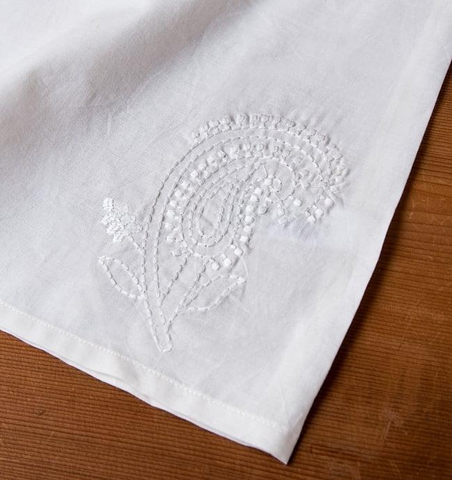 サフェード刺繍シンプルホワイト ノースリーブチュニック 10 - 反対側です