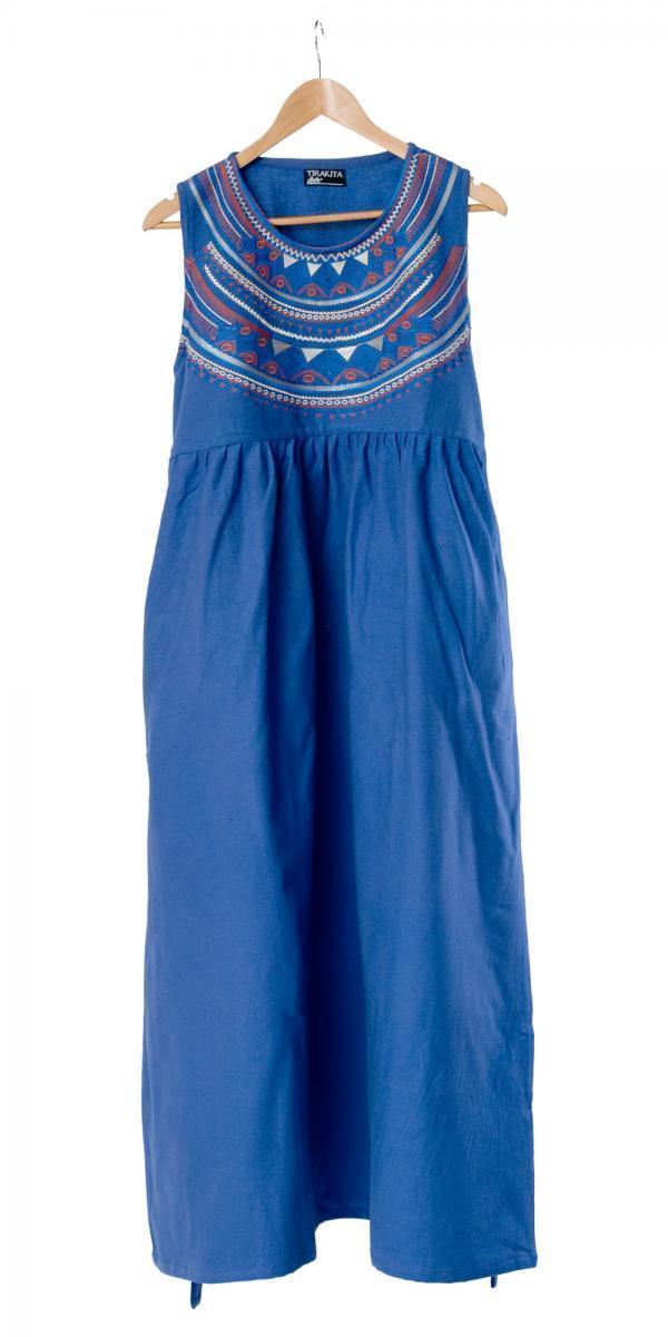 刺繍が美しいコットンマキシワンピース 10 - 選択5:ブルー