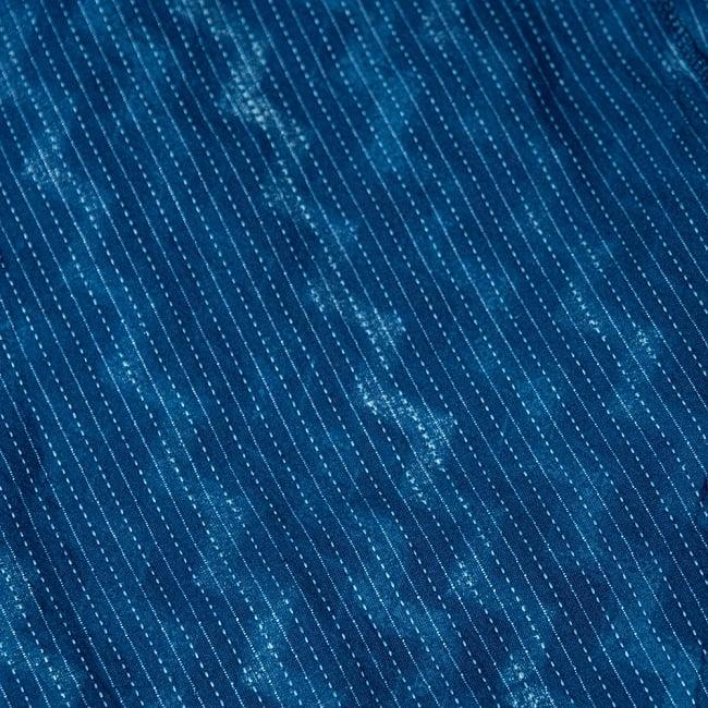 カンタ刺繍 藍染マキシワンピース 10 - 裏地も良い仕上がりになっています。