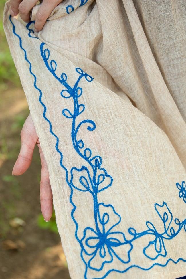 インド薄更紗 カフタンチュニック 12 - 裾部分を見てみました。