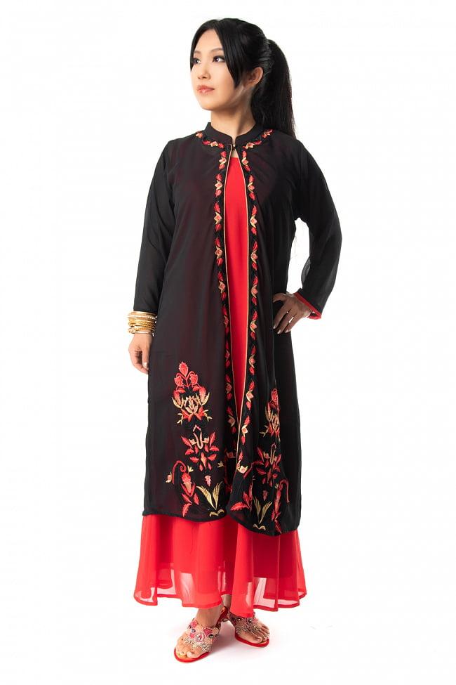 オーガンジーの刺繍ワンピース 2 - 身長150?のモデルがMサイズを着用した例です。