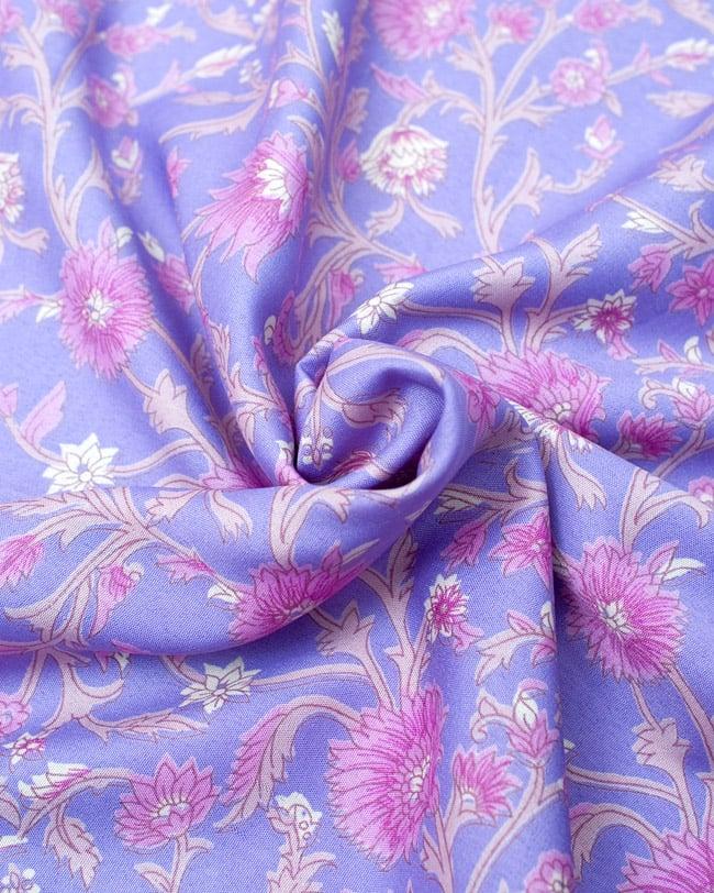 リバーシブル サリー生地タイパンツ 【紫系】 5 - 柔らかい素材なので、とても履きやすいです。