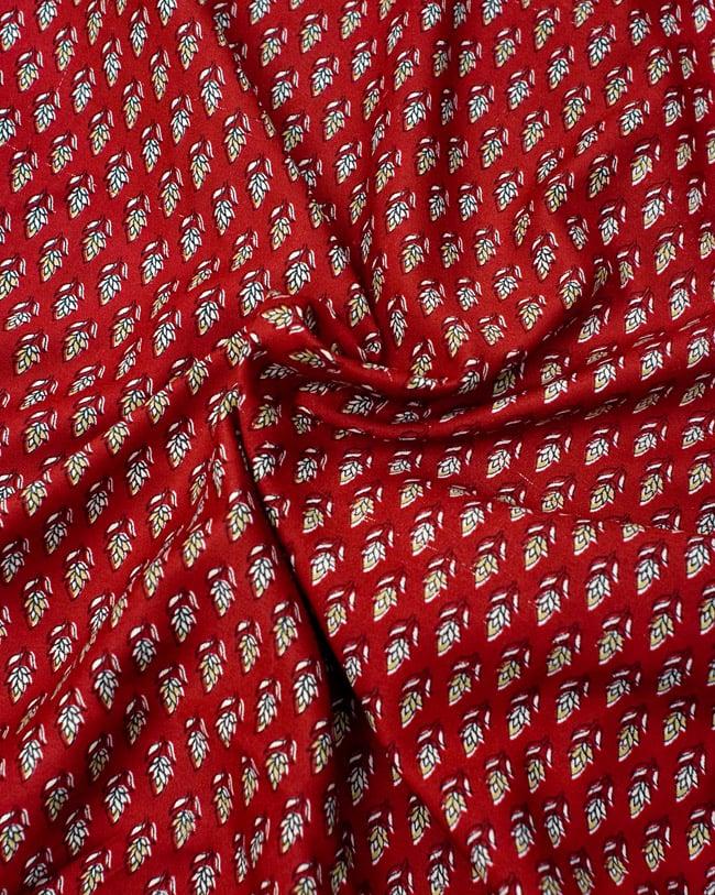 リバーシブル サリー生地タイパンツ 【赤系・オレンジ系】 5 - 柔らかい素材なので、とても履きやすいです。